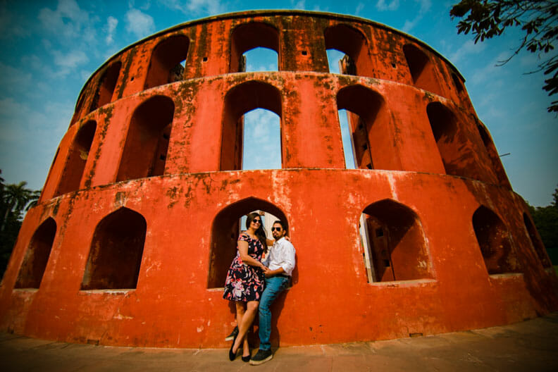 Mesmerizing Pre wedding shoot Jantar Mantar-11