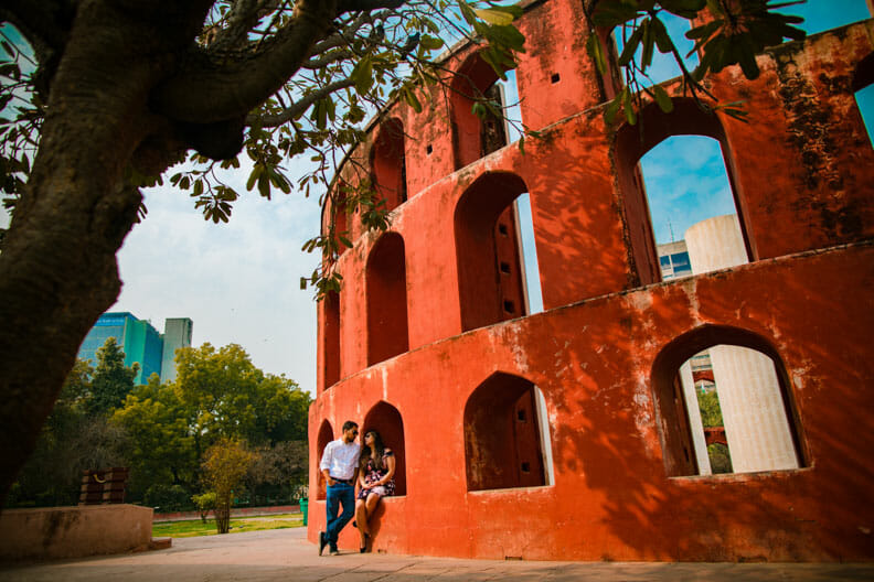Mesmerizing Pre wedding shoot Jantar Mantar-14