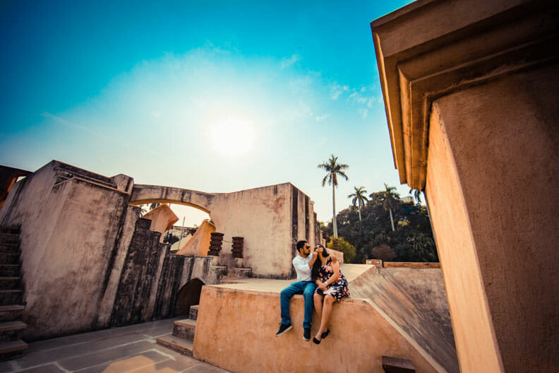 Mesmerizing Pre wedding shoot Jantar Mantar-17