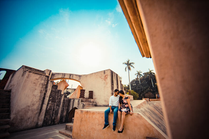 Mesmerizing Pre wedding shoot Jantar Mantar-18