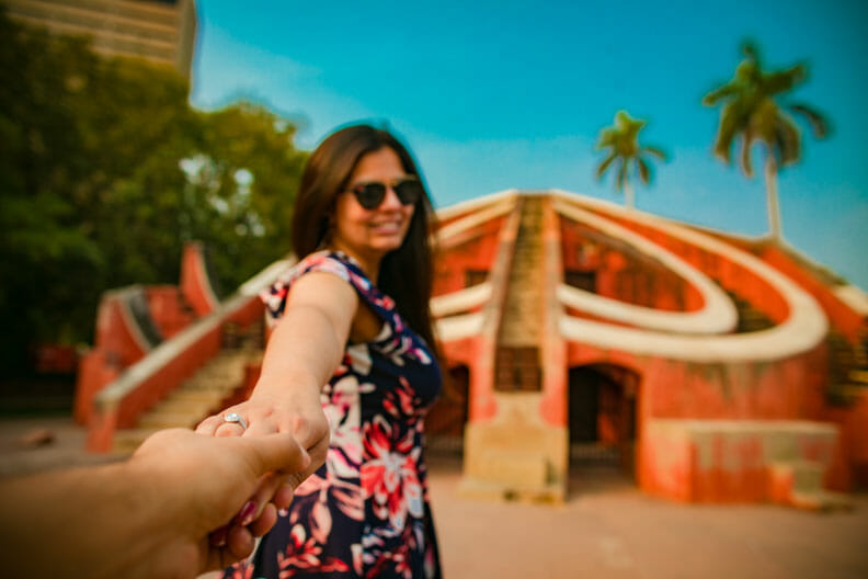 Mesmerizing Pre wedding shoot Jantar Mantar-23