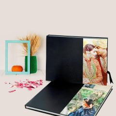 All Black Leather Album with Acrylic Side 01