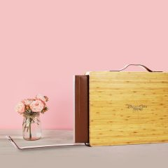 Bamboo Wood Box Leather Album 01