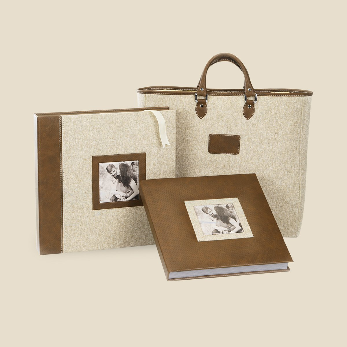 Rustic Fabric Leather Album 01