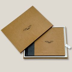 Wood Finish Leather Album 01